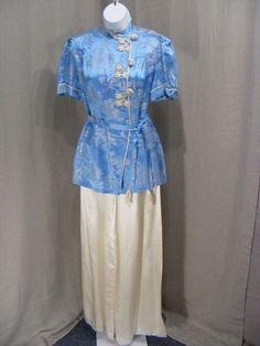 1950/'s 50s Robbin/'s Egg Blue Crisp Taffeta Slip  Nightie Barbizon  Eyelet Lace  Adjustable Straps