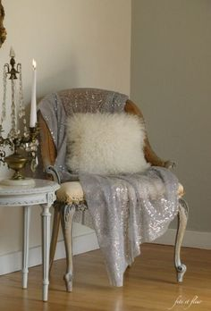 A Small Thing…. A Big Difference! A Shimmery Throw……….
