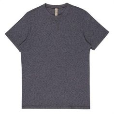 Paul Smith Men's T-Shirts - Charcoal Grey Marl Knitted Cotton T-Shirt