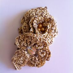 crochet pin handmade with love @Valeria Cervantes buccheri