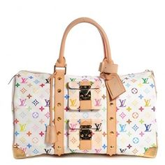 Louis Vuitton Multicolor Keepall 45 White Muliticolor White Tote Bag. Get one of the hottest styles of the season! The Louis Vuitton Multicolor Keepall 45 White Muliticolor White Tote Bag is a top 10 member favorite on Tradesy. Save on yours before they're sold out!