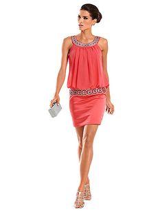 b1ff73b4e56d6a Carry Allen - Cocktailkleid koralle im Heine Online-Shop kaufen Ashley  Brooke