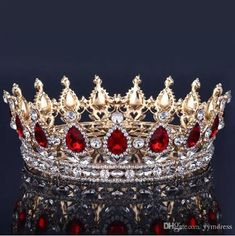 Luxury Bridal Crown Rhinestone Crystals Royal Wedding Crowns Princess Crystal Hair Accessories Birthday Party Tiaras Quinceaner Sweet 16 – Wedding For My Life Head Jewelry, Royal Jewelry, Headpiece Jewelry, Queens Tiaras, Decorative Hair Combs, Bride Tiara, Bridal Crown, Tiaras And Crowns, Crystal Rhinestone