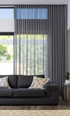 4 Marvelous Unique Ideas: Bamboo Blinds Living Room blinds for windows with curtains.Blinds For Windows Sliders dark blinds simple.Livingroom Blinds And Curtains. Home Curtains, Modern Curtains, Modern Blinds, Sheer Curtains Bedroom, Hanging Curtains, Sheer Blinds, Fabric Blinds, Curtains And Blinds Together, Farmhouse Curtains