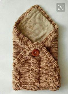 Zarf Şeklinde Örgü Bebek Battaniyesi Modeli Yapılışı ( Anlatımlı )