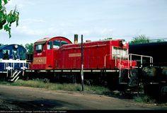 CAGY 501   Description:  The unit wears the paint scheme of its former owner, the Terminal Railroad Association of St. Louis.   Photo Date:  10/4/1980  Location:  Columbus, MS   Author:  Michael Palmieri  Categories:  Roster,Yard  Locomotives:  CAGY 501(SW1)