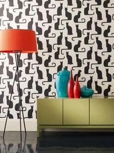 wallpaper gatti neri