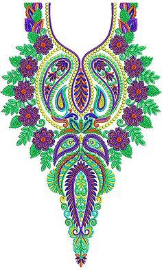 Latest Farasha | Jalabiya | Galebiya | Neck Embroidery Design