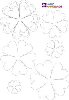 Шаблон цветочков