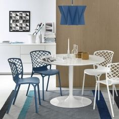 Calligaris Planet Table from Lime Modern Living. Find a range of contemporary furniture from top brands including Calligaris Round Dining Table, A Table, Dining Chairs, New Furniture, Furniture Design, Table Furniture, Room Wall Decor, House Rooms, Contemporary Furniture