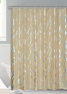 Luxurious Bold Metalic Moroccan Trellis Shower Curtain Se