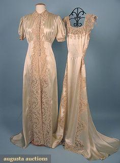 Augusta Auctions, April 2006 Vintage Clothing & Textile Auction, Lot 597: Trousseau Lingerie Set, 1930s
