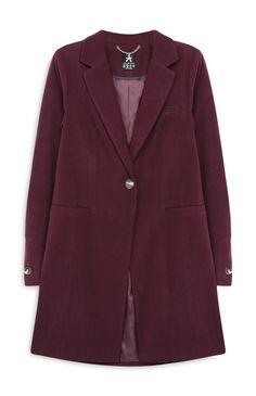 Primark - Abrigo de vestir color burdeos 28€
