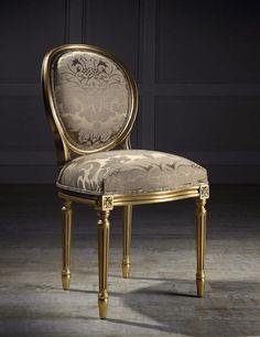 Chaise médaillon / de style Louis XVI / en tissu ANDREA I Colección Alexandra