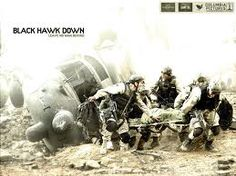 Black Hawk Down. Tragic true story of Army Rangers killed in Somalia, but a true testament to the bravery of our armed forces...