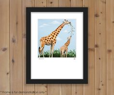 Giraffe Print from Original Oil Painting by HeatherAnnOrlando #art #giraffe #painting #wildlife #print