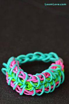 Rainbow Loom® Ritssluiting Armband - http://www.rainbow-loom.nl/rainbow-loom-videos-voorbeelden/rainbow-loom-ritssluiting-armband/