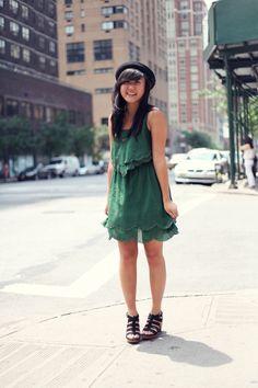 JennifHsieh: A Certain Shade of Green #ootd #wiwt