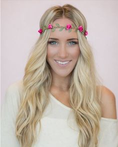 Floral Headbands are the perfect accessories with any outfit! Temporary Hair Color, Floral Headbands, Hair Accessories, Hair Styles, Outfits, Beauty, Hair Products, Sugar, Fashion