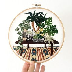 How darling are these embroidered works of art by artist Sarah K. Benning?