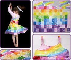 100 Dreams - Patchwork Twirly Dress. Get everything in you need fabric-wise in 1 yard from Spoonflower.