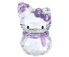 HK |❣| HELLO KITTY Swarovski Snowman Figurine