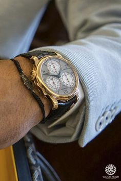 FP Journe Centigraph in rosé gold has to be my favourite watch from them! Bracelet by Anil Arjandas