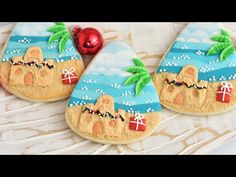 (1) BEACH SAND CASTLE COOKIES collaboration with@Montreal Confections - YouTube
