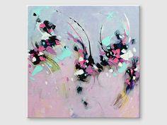 Abstract painting by Svetlansa #painting #abstract #svetlansa #homedecor #pink  #blue #purple #artwork #wallart #abstractart