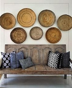 if anyone's looking for large basket wall hangings similar to these, contact me!  We're selling them at MODCottage!