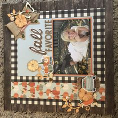 Layout of my daughter using Simple Stories Fall Farmhouse and some misc bits and bobs. Scrapbook Titles, Scrapbook Sketches, Scrapbook Page Layouts, Scrapbook Paper, Scrapbook Borders, Handmade Scrapbook, Baby Boy Scrapbook, Halloween Scrapbook, Creative Memories