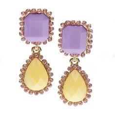 Pastel drop earrings