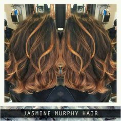 ROSE GOLD X COPPER  @Regrann from @jasminemurphyhair -  ROSE GOLD X COPPER  Gorgeous way to bring another look to your Lob  Jaymie used @olaplex & @wellahair to create this look  #Regrann