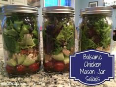 Balsamic Chicken Mason Jar Salads Recipe