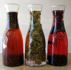 Make flavored vinegars with herbs via motherearthliving.com