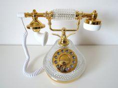 Vintage Crystal Princess Phone by BingoVintageShop on Etsy, $28.50