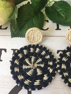 Iraca Fiber Earrings / Boho Chic/ | Etsy