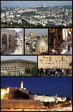 Panorámica de Jerusalén, desde el Monte de los Olivos.