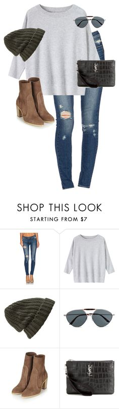 """""""Untitled #11840"""" by alexsrogers ❤ liked on Polyvore featuring Paige Denim, Toast, Forever 21, Valentino and Yves Saint Laurent"""