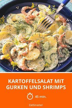 Kartoffelsalat mit Gurken und Shrimps - smarter - Zeit: 45 Min. | eatsmarter.de