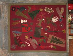 WB - WOOL CHRISTMAS SAMPLER - Wednesday's Best Cheri Wool Applique Quilt Pattern