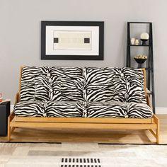 Sure Fit Zebra Futon Slipcover Bed College Furniture Best