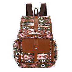 Green - Ethnic boho backpack - #ethnicbackpack #bohobackpack #greenbackpack #boho