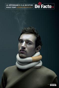 RSEQ / De Facto: Nicotine addiction - man | Ads of the World™