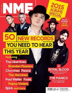 shaping up to be an epic year for new music. From Björk's rush-release to new albums from Chvrches, The Libertines and Kendrick Lamar, here's 50 of the most exciting to come. Read more in this week's NME and stand by for part two next week. Nme Magazine, Magazine Covers, Pete Doherty, Paul Weller, Brandon Flowers, The Libertines, Royal Blood, New Bands, Music Magazines