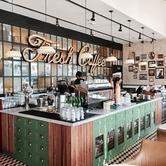 40 Exciting Industrial Coffee Shop images | Coffee cafe interior ...