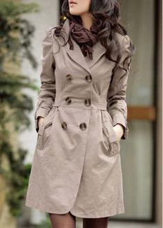 Chic Double Breasted Turndown Collar Autumn Trench Coat on sale only US$12.38 now, buy cheap Chic Double Breasted Turndown Collar Autumn Trench Coat at martofchina.com