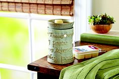 Medium Wax Warmer for the scented waxes.  Your home will smell soooo inviting!