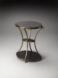 Metalworks Transitional Iron Oval Accent Table