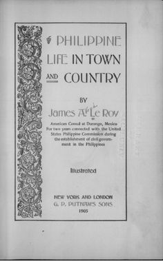 philippine life in town and country le roy james alfred httpquod